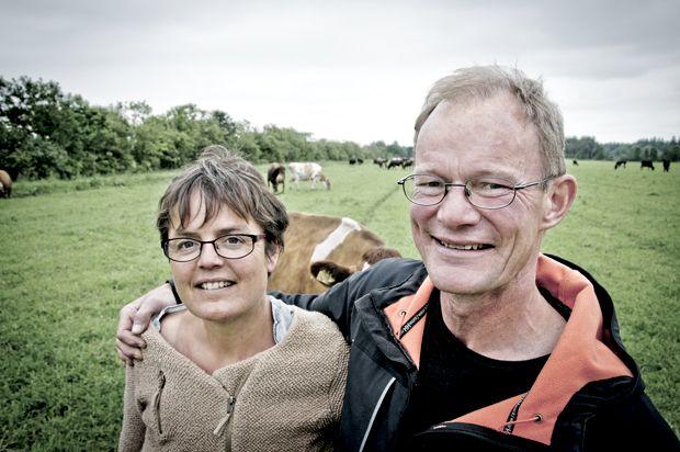 For Rikke Friderichsen og Kristen Degn handler det rigtig meget om køer. Foto: Morten Telling