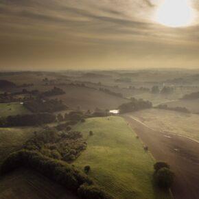 Luftfoto med drone