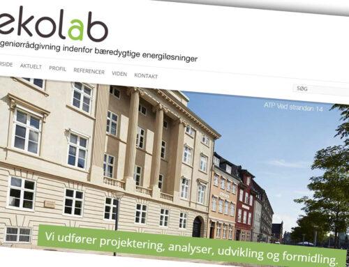 Nyt webdesign til Ekolab