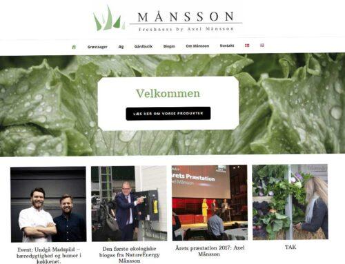 Redesign af hjemmeside for Axel Månsson A/S